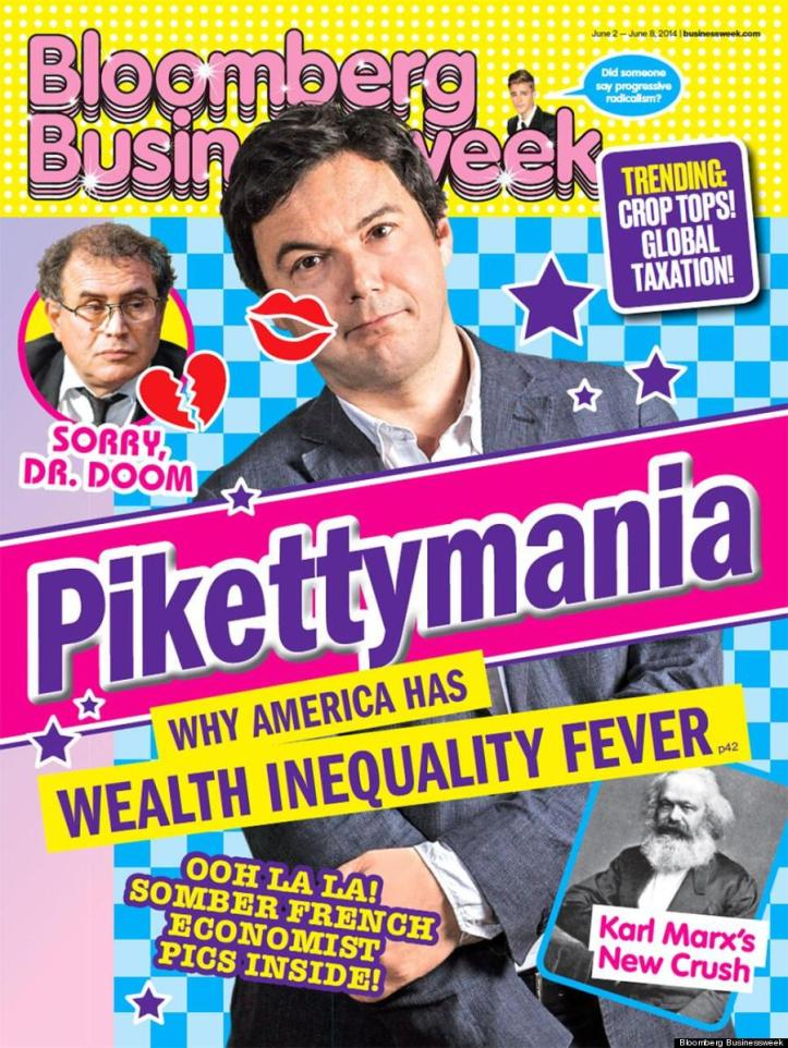 After Financial Times' botched and bungled attack on Piketty's Capital failed, to escape from dealing with the essence Bloomberg BusinessWeek chose a different tactic which is a) kind of funny, b) pathetic