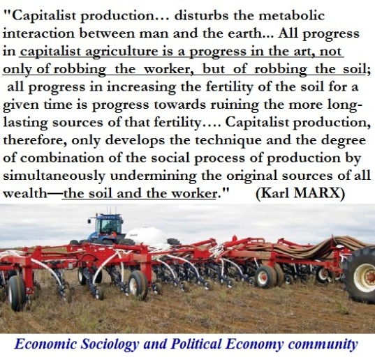 agriculture capitalism karl marx