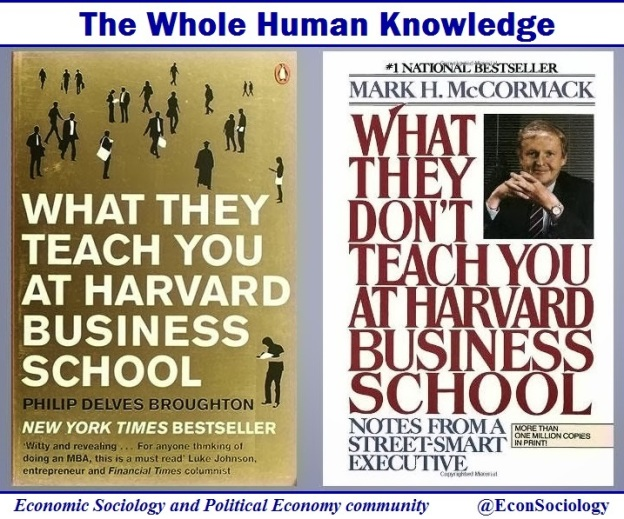 What they do and don't teach you at Harvard Business school