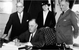 On July 5, 1935, President Franklin D. Roosevelt signed the National Labor Relations Act into law.