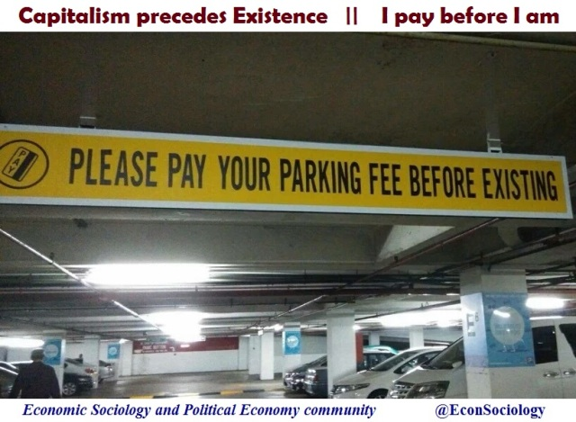 capitalism precedes existance
