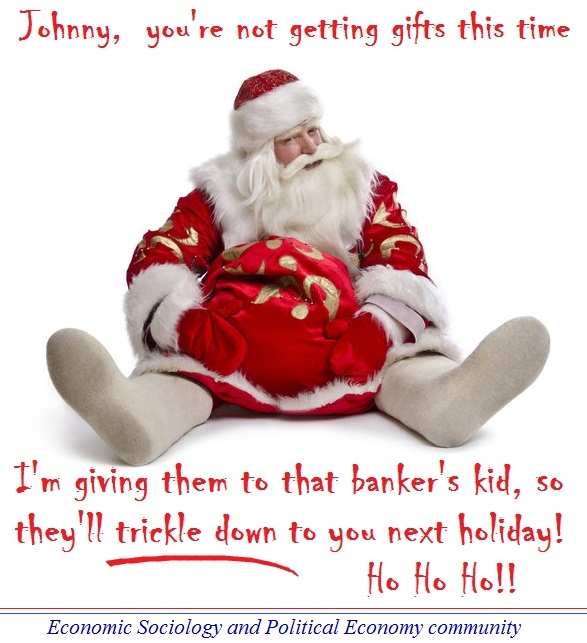 Santa-Claus trickle down
