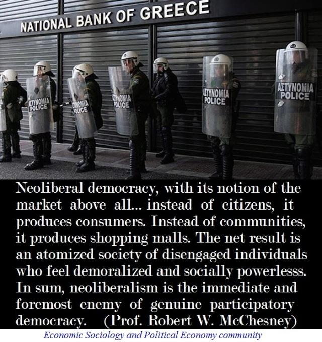neoliberalism democracy