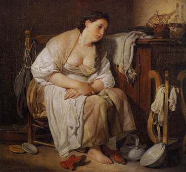 """""""Indolence"""", by Jean-Baptiste Greuze (1756)"""