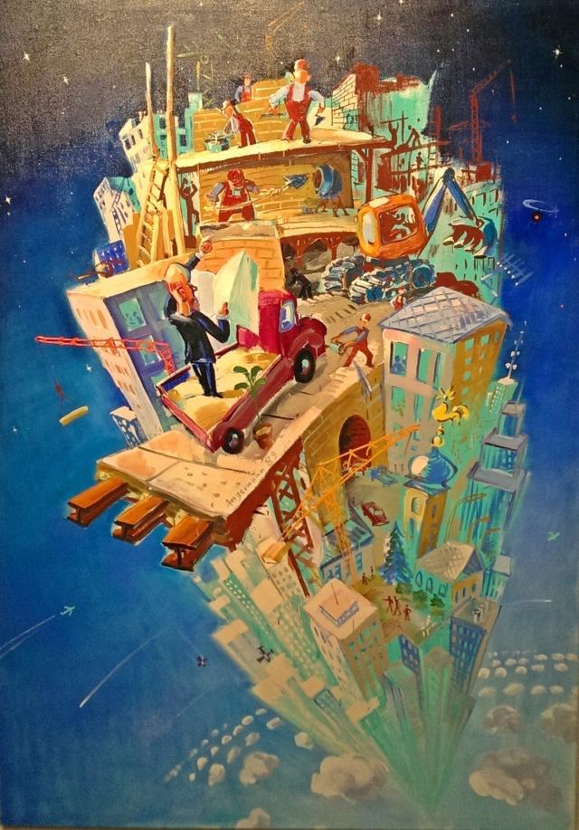 """Turmbau zu Babel"" (Tower of Babel) by Peter Angermann, 1989"