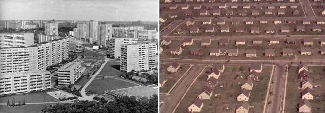 Berlin, Marzahn, Neubaugebiet, Wohnblocks