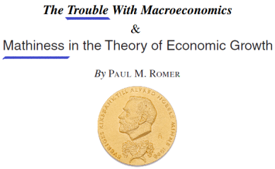 Mathiness in the Theory of Economic Growth - Paul Romer