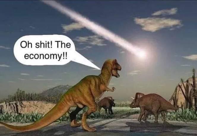 Existential risk dinosaur