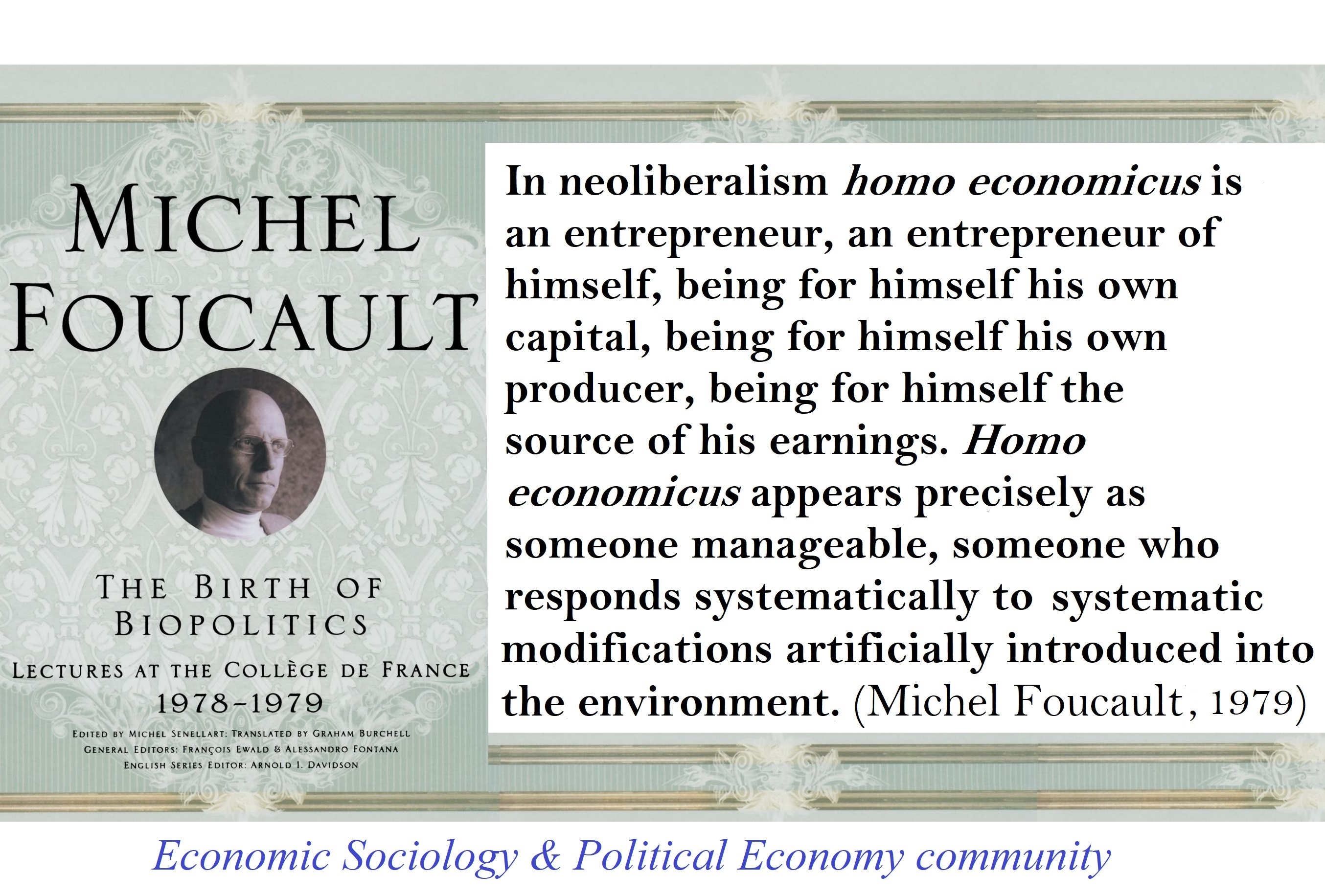 Foucault The Birth of Biopolitics Neoliberalism